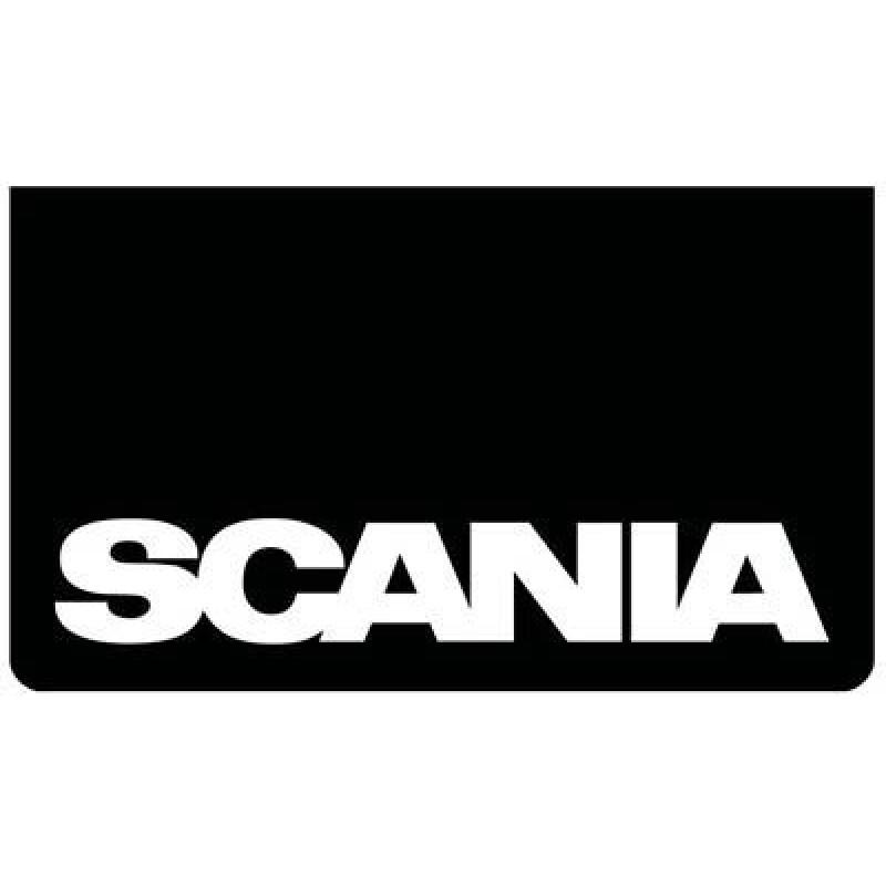 Stænklap Scania Sort/Hvid skrift